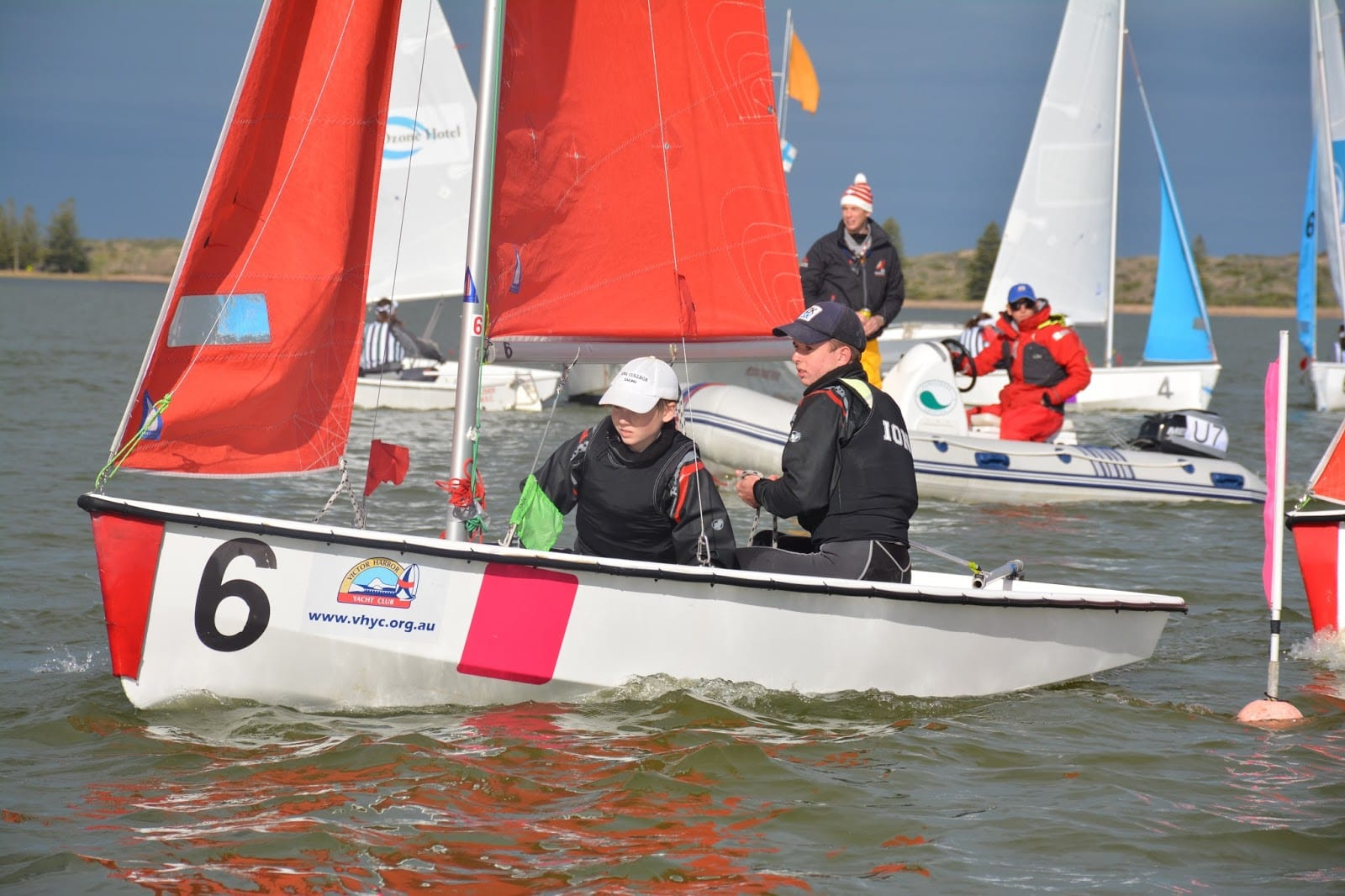 Action heats up in team sailing nationals