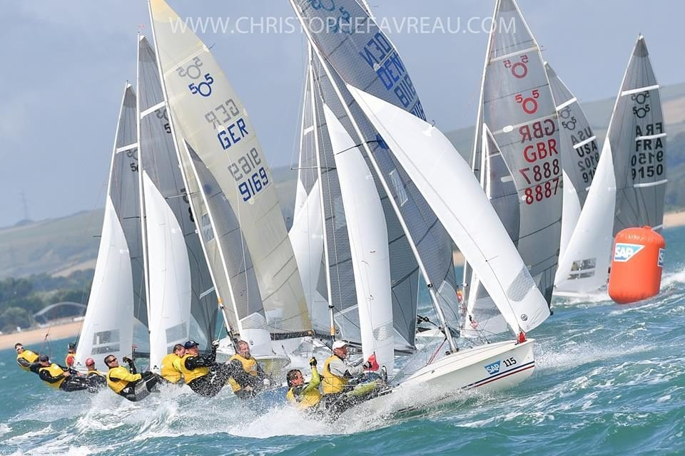 Aussies do battle in red hot 505 fleet