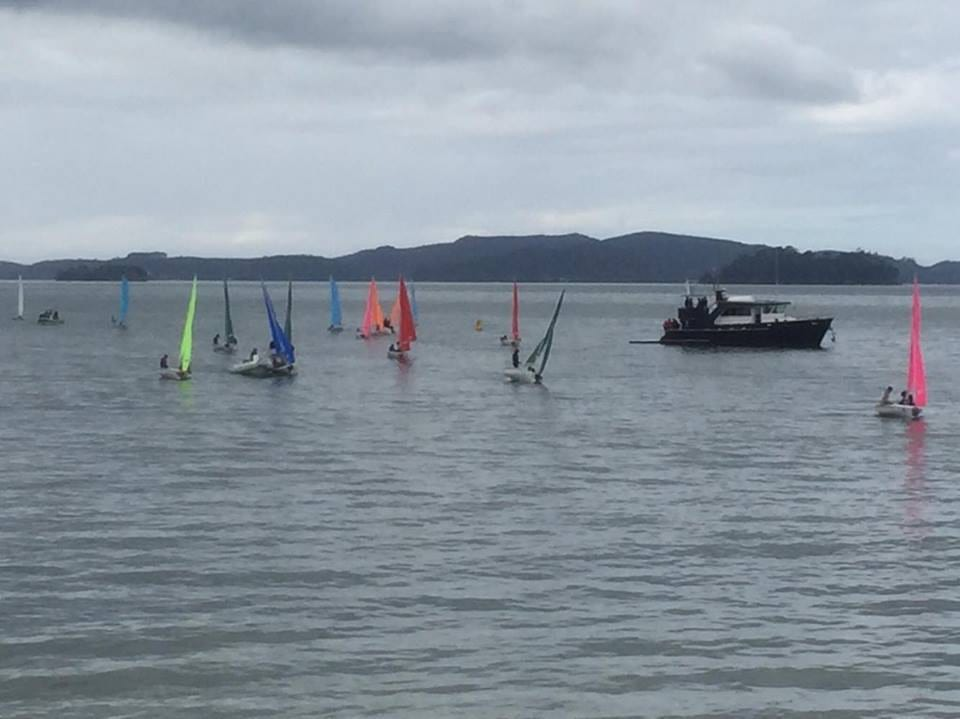 There was about 5 to 10 knots on the second day of racing yesterday.