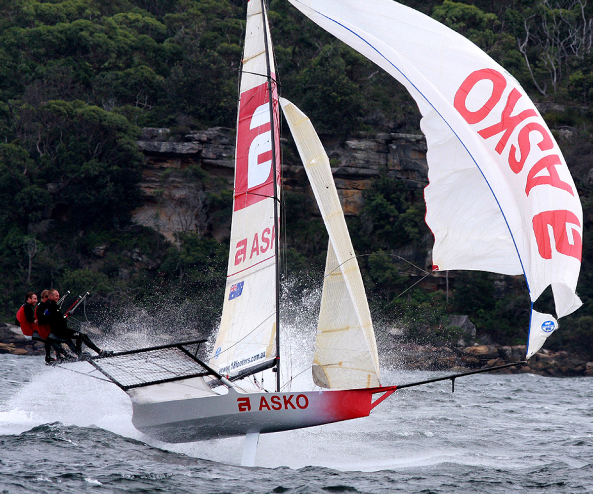 Marcus Ashley-Jones drives a former Asko Appliances skiff to its limits.