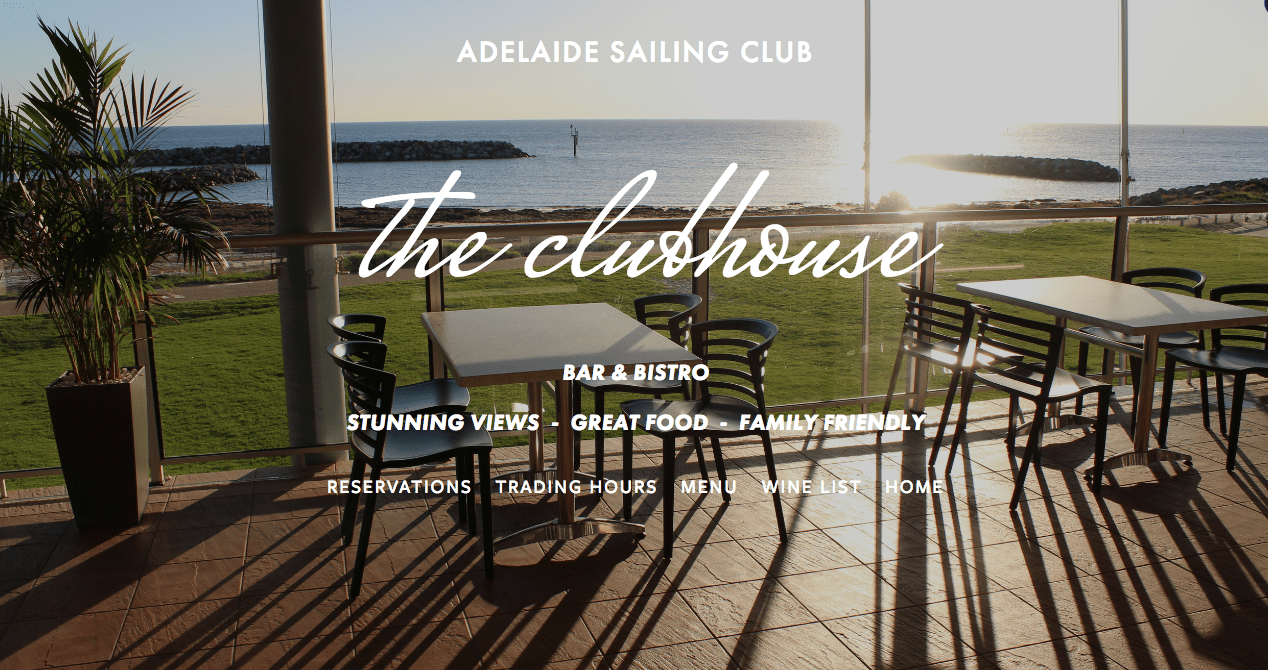 The views from the clubhouse at the Adelaide Sailing Club are some of the best in Adelaide.