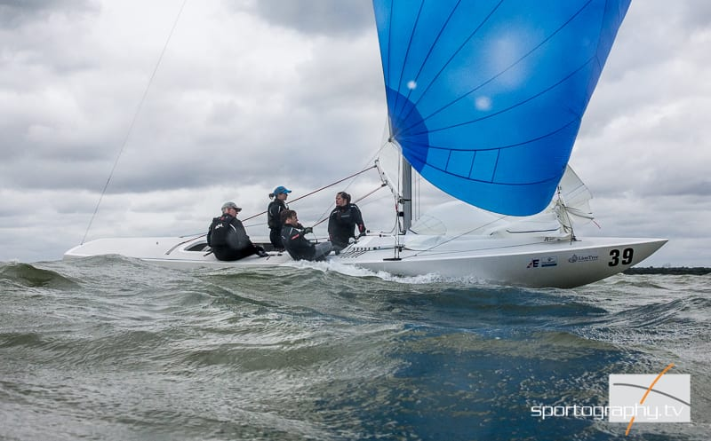 Etchells Worlds 2016 Day 2 – Mixed day for the Australians