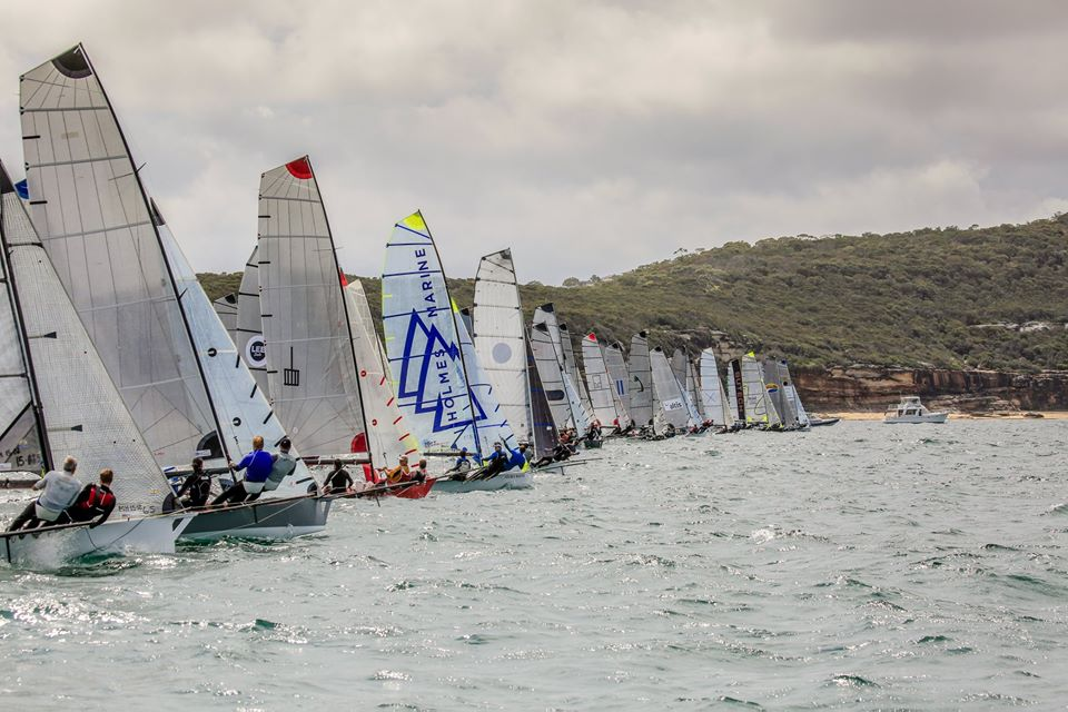 45 boats on the start line