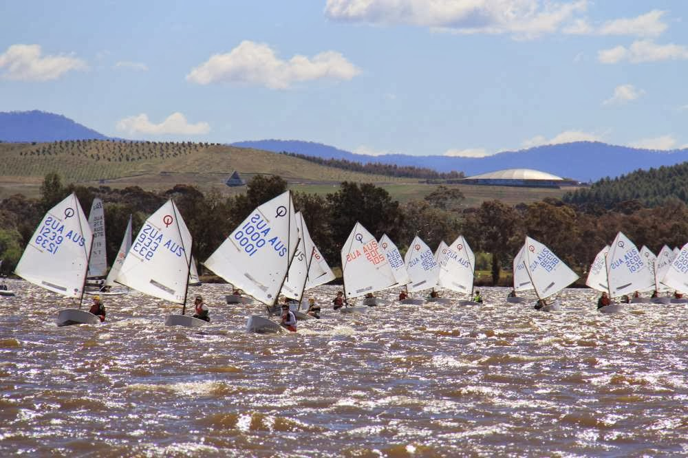 Lake Burley Griffin saw a bit of breeze for this year's ACT Optimist Championship.