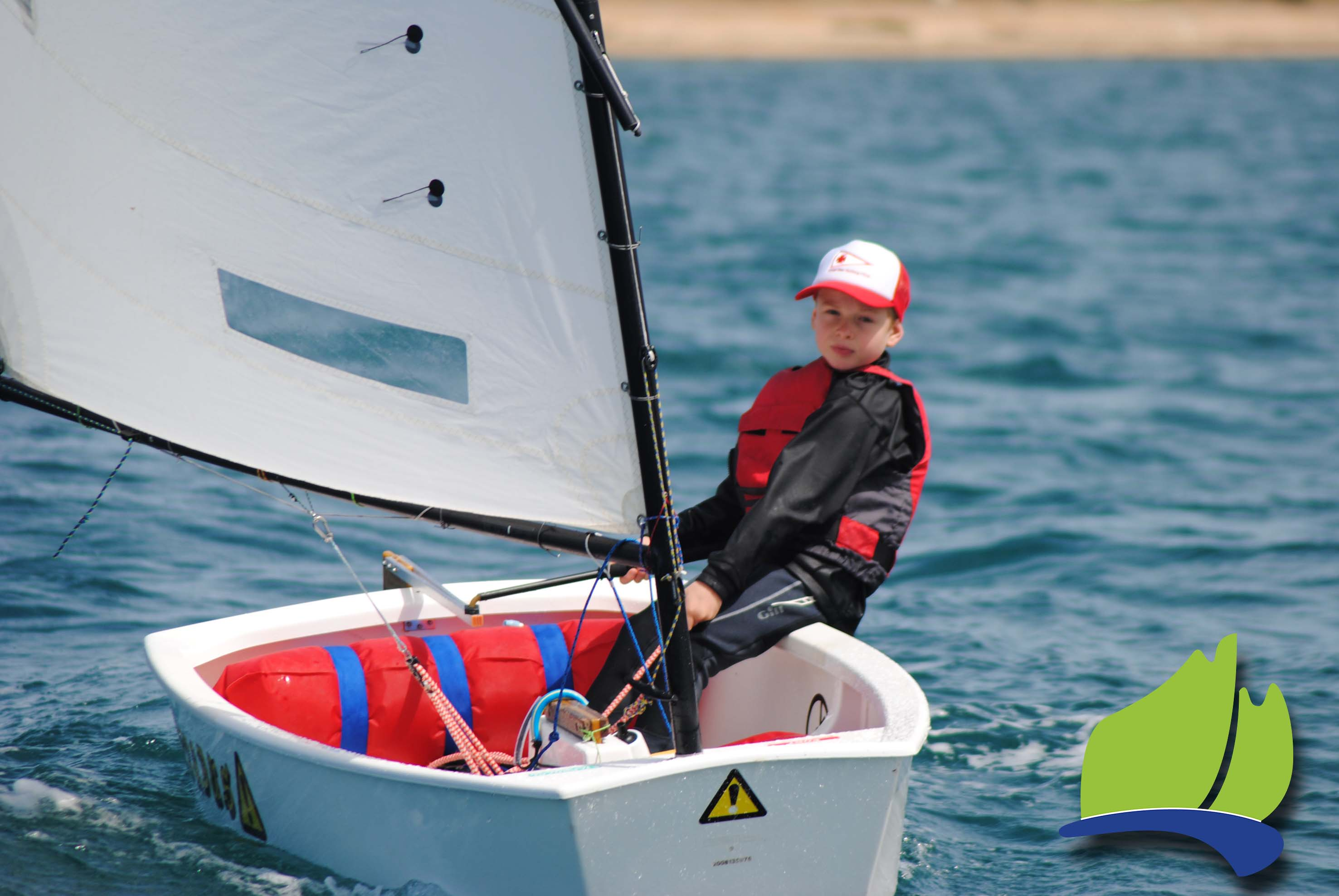 Archie Kretschmer, Largs Bay Sailing Club, was the overall winner in the optimist green fleet.