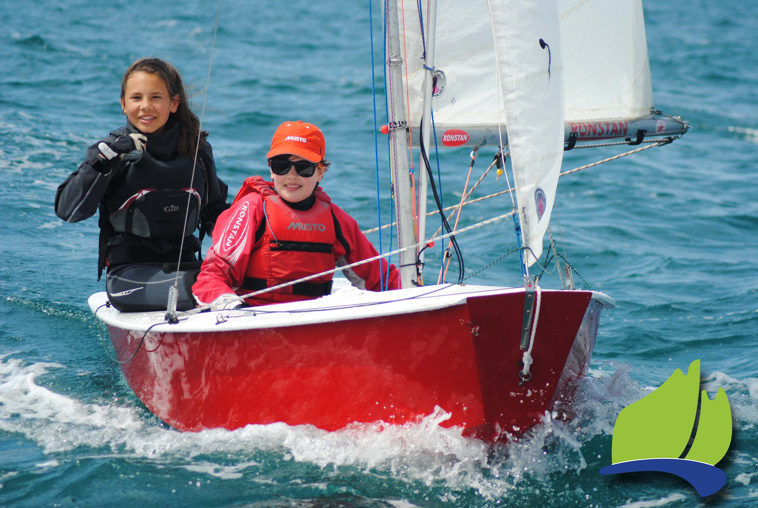Ella Konings and Amy Short sailed their cadet, Wilson, in the Tri Series event in Port Lincoln.