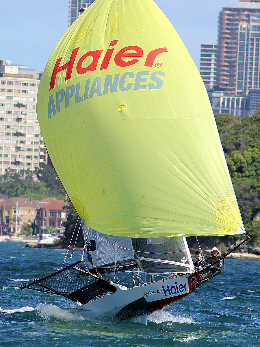 Haier launching down the Harbour