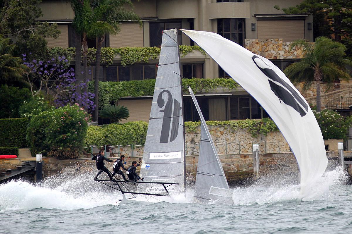 Rag & Famish wins dramatic state heat | NSW 18ft Skiffs