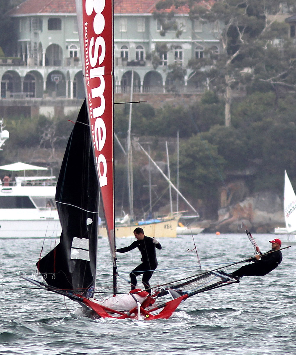 Smeg crew in some strife late in the race