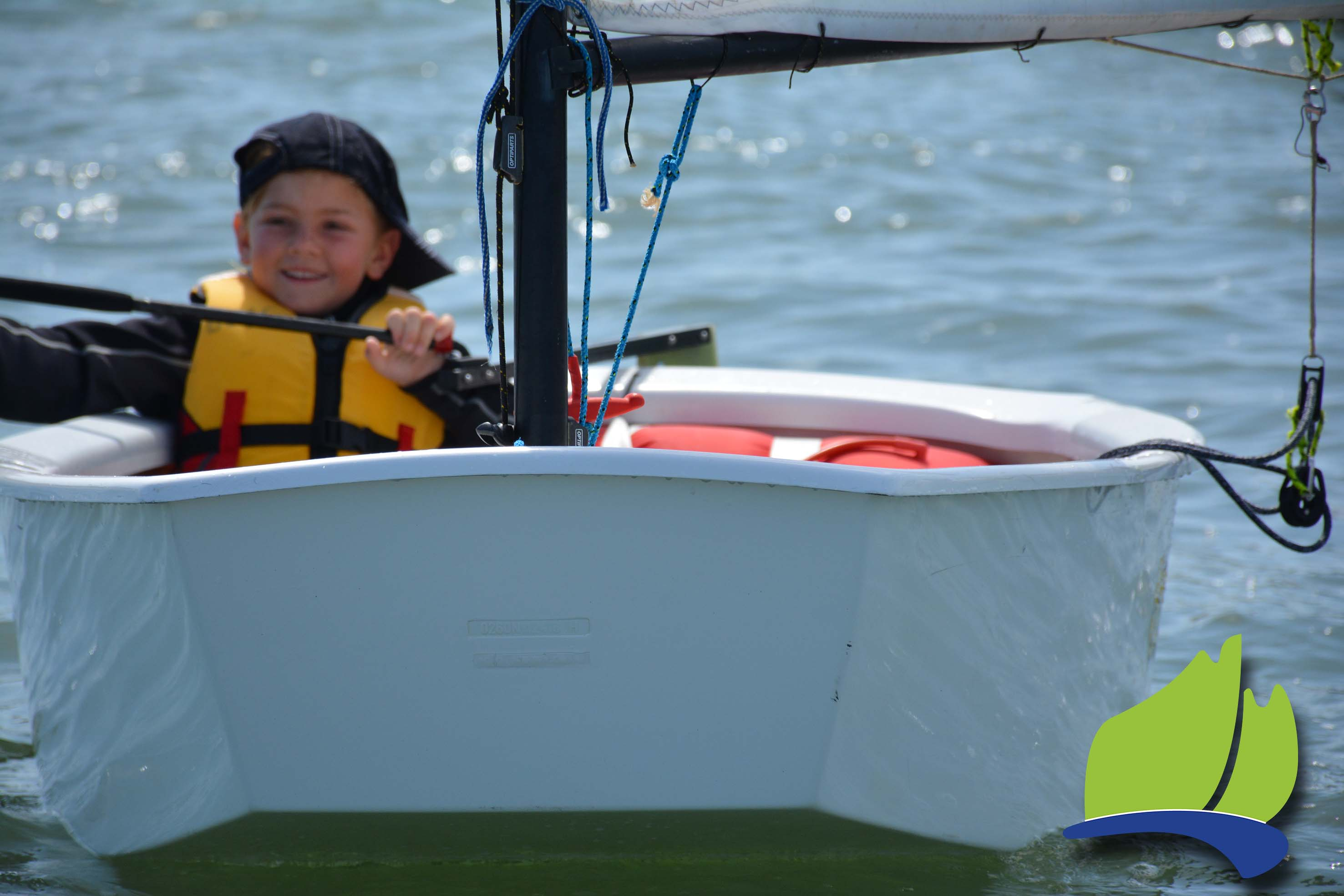Darcy Higgins had a great time sailing in the Optimist Green Fleet.