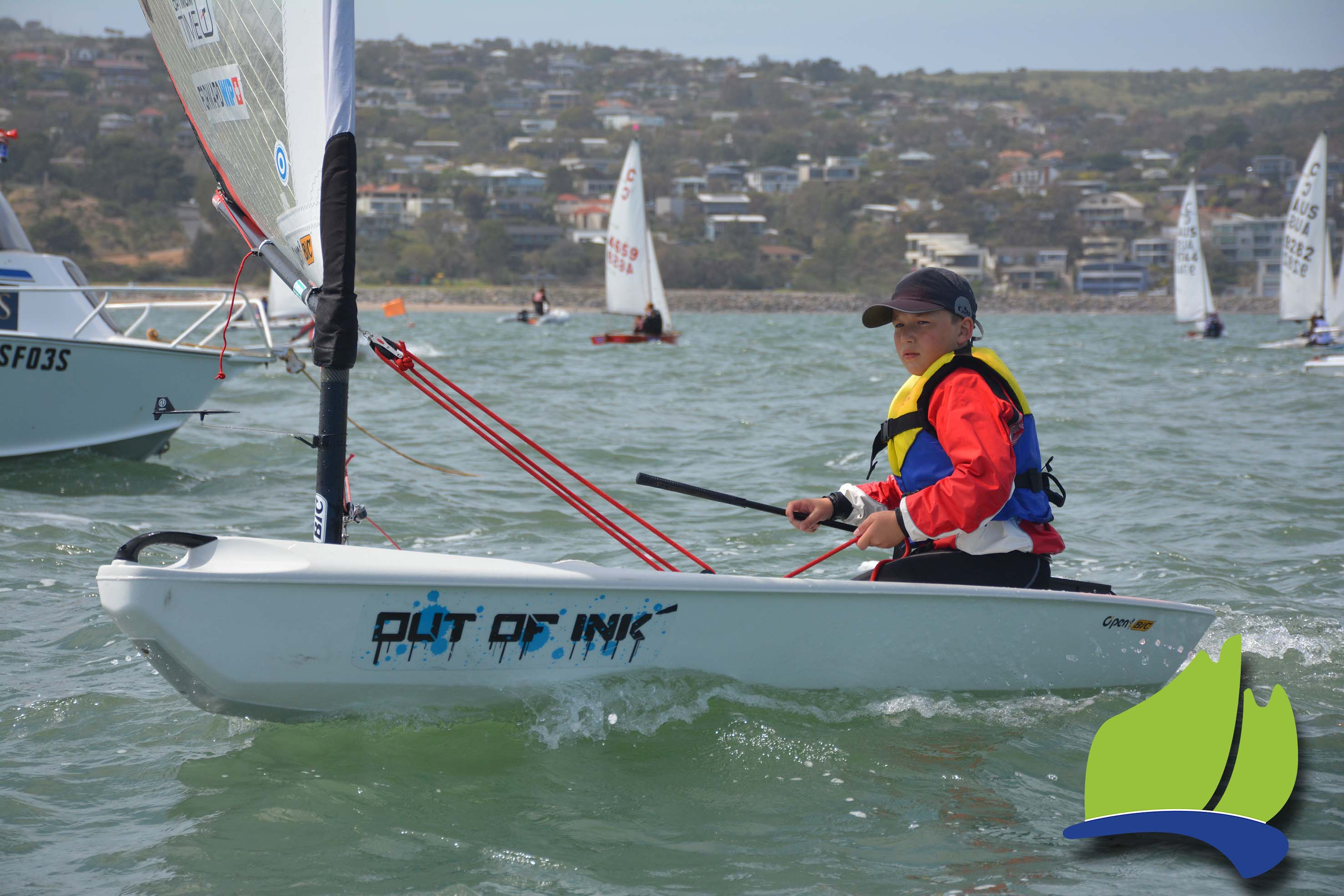 Adelaide's Alexander Lebedev sailing in the Open Bic at the recent Tri Series event.
