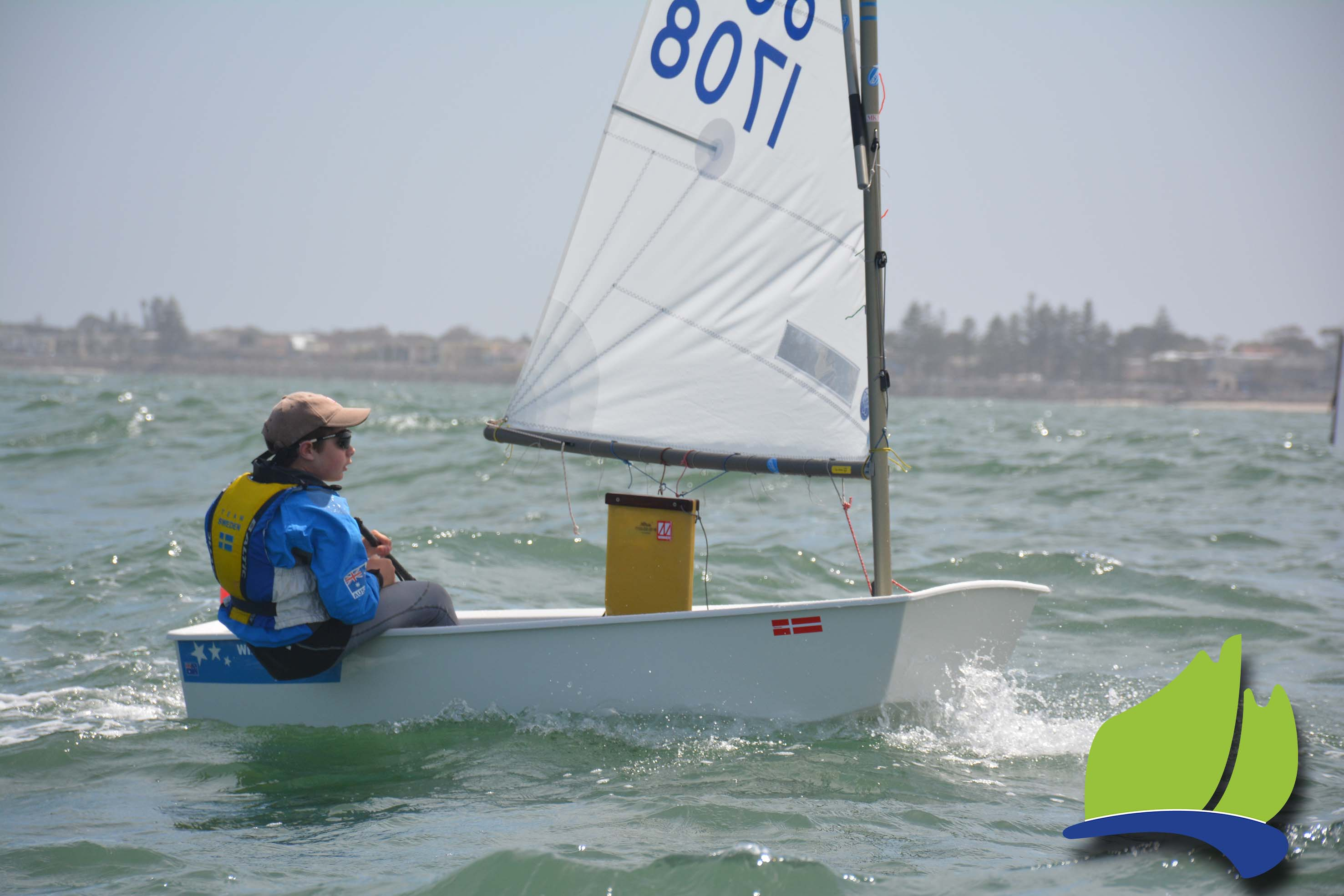 Adelaide's Ben Hinks finished third overall in the Optimist Open Fleet.