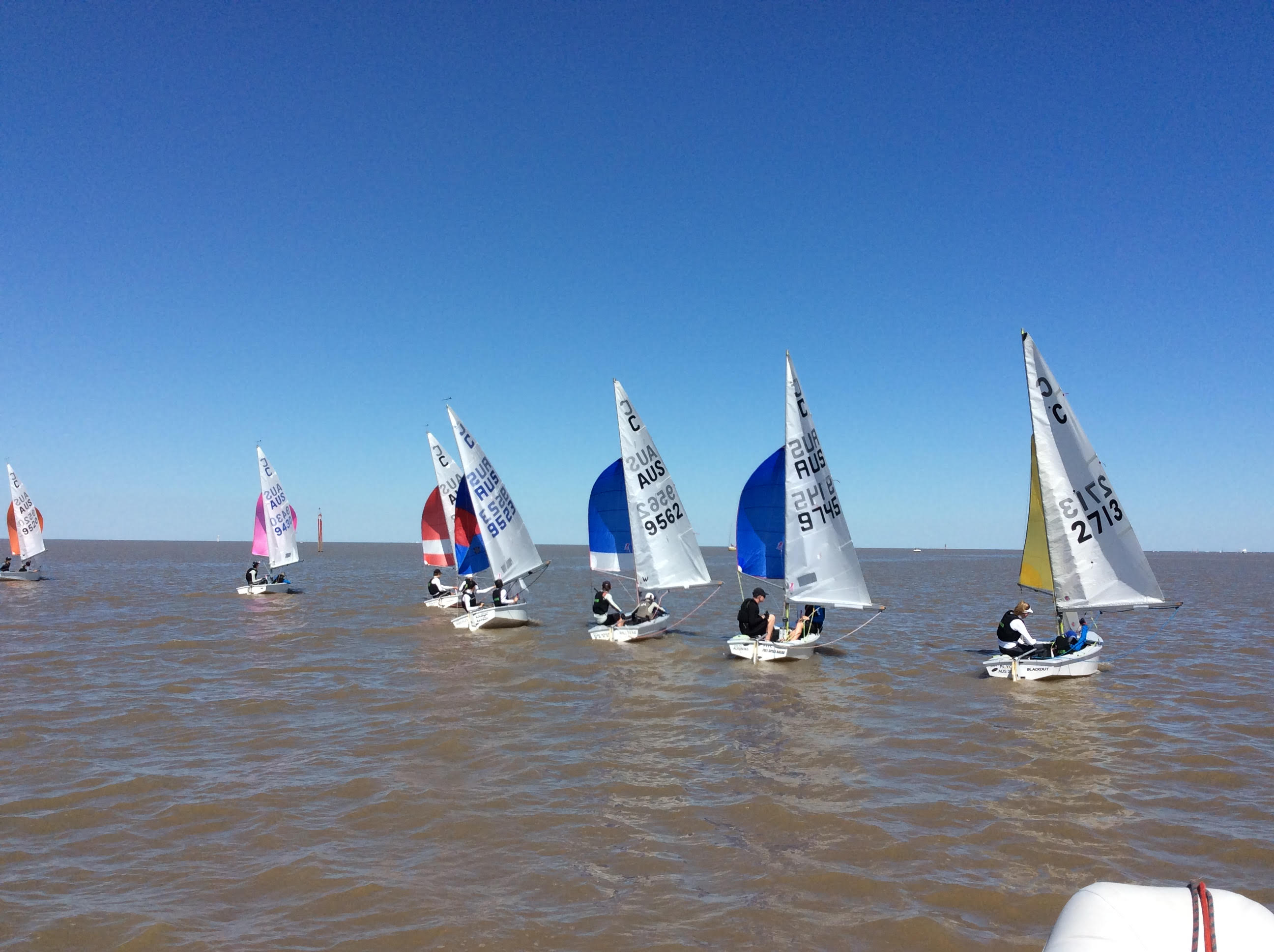 The Australian team of nine boats has been training in light airs at Club Nautico Albatros in Argentina.