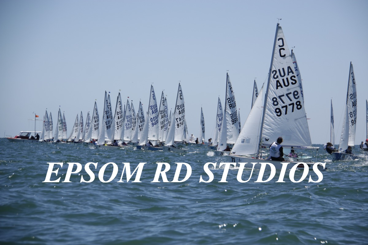 The 82-boat Cadet fleet has been extremely competitive. Photos: Dave Birss, Epsom Rd Studios.