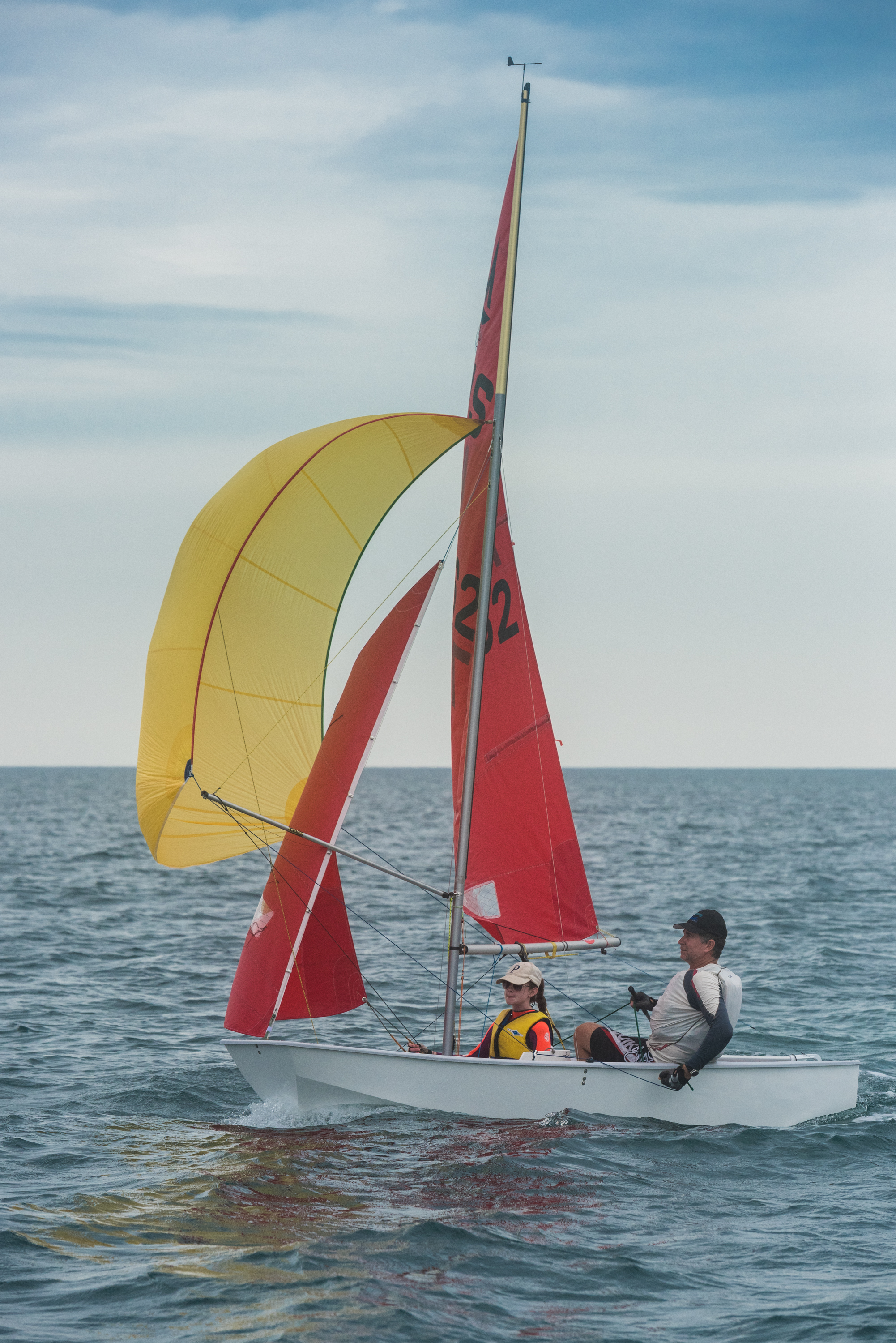Damian and Emily Carey took out the Australian Mirror Championship with a race to spare. Photo: Karl Olsen.
