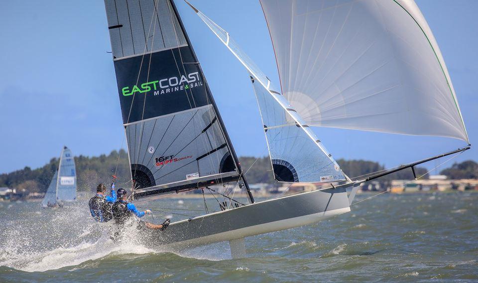 East Coast marine launching off the Lake Illawarra chop