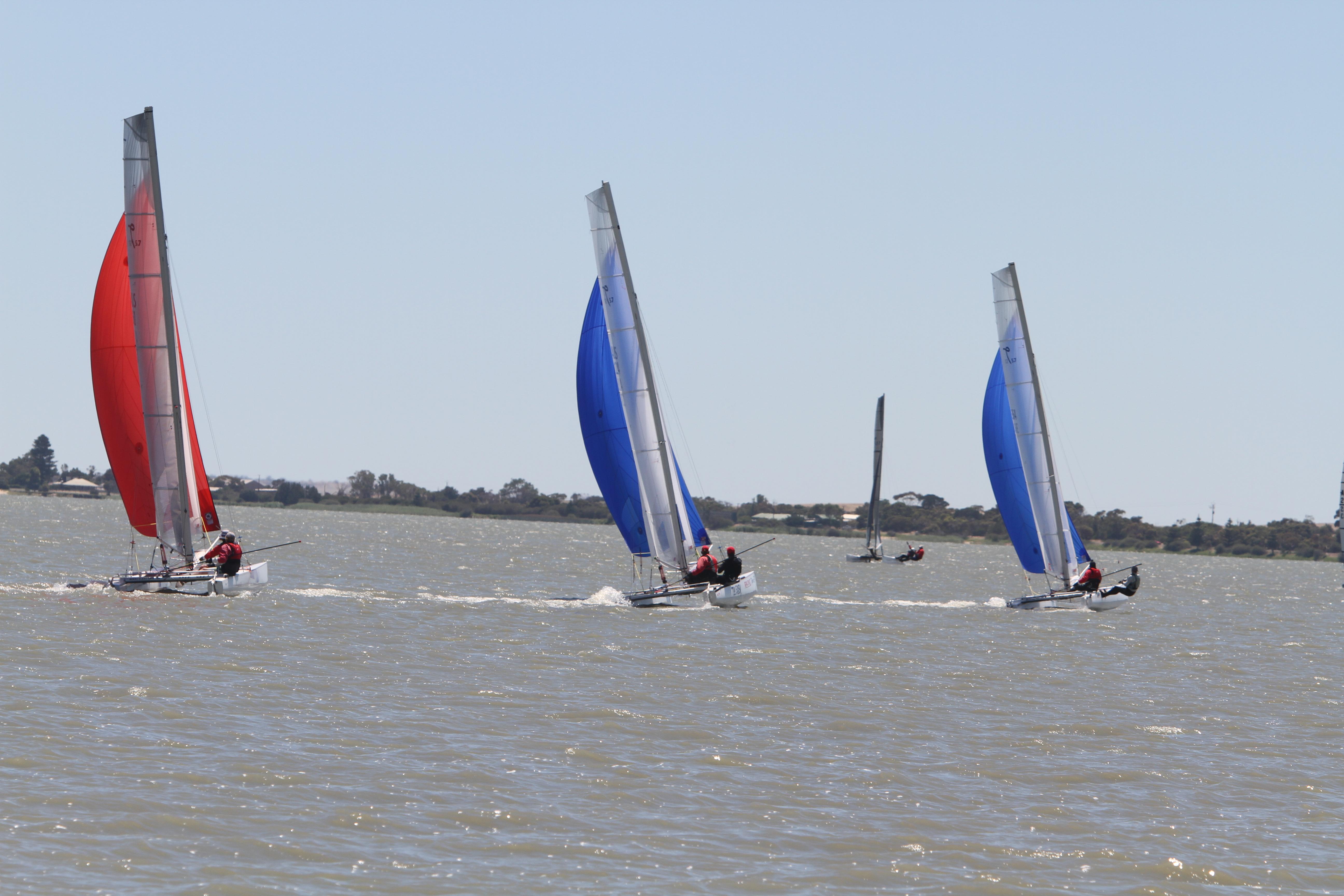 Lake Albert, Meningie provided great catamaran sailing conditions throughout the series.