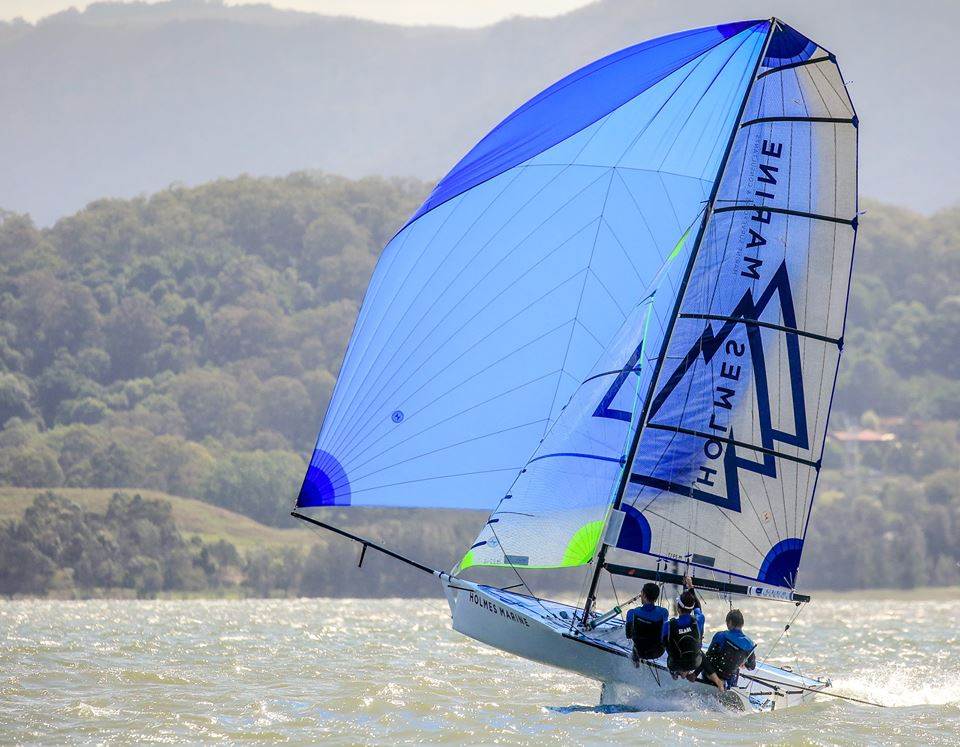Holmes Marine taking to the sky at the nationals. Photos: Michael Chittenden.