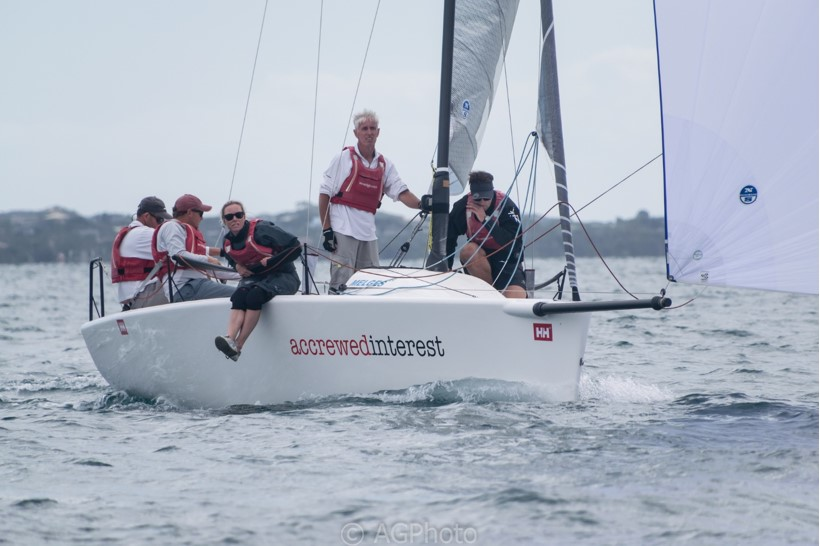 Accrewed Interest sits first overall after the first day of racing. Photo: Ally Graham