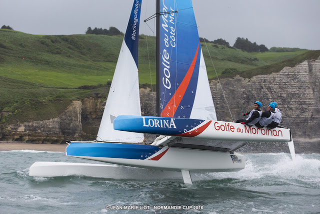 Diam 24 racing in the Normadie Cup last year. The same type of boat as Wilparina 3.