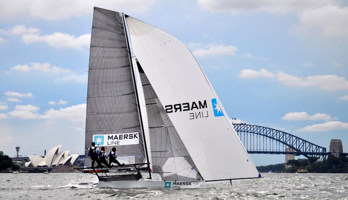 Maersk Line, skippered by the man responsible for the New Zealand resurgence in 18ft Skiff Racing