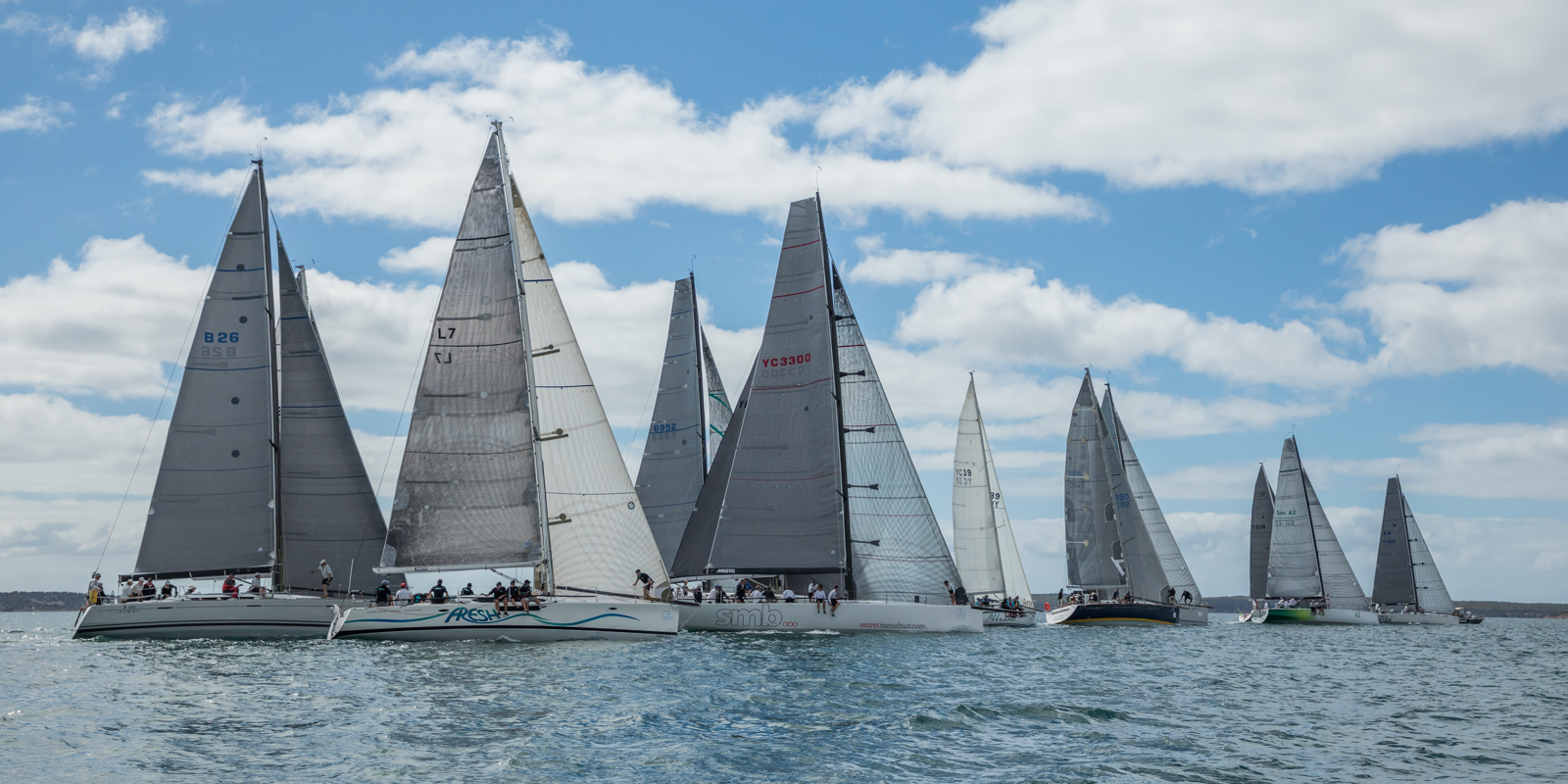 Division one racing at the Lincoln Week Regatta on Boston Bay, Port Lincoln. Photo: Take 2 Photography