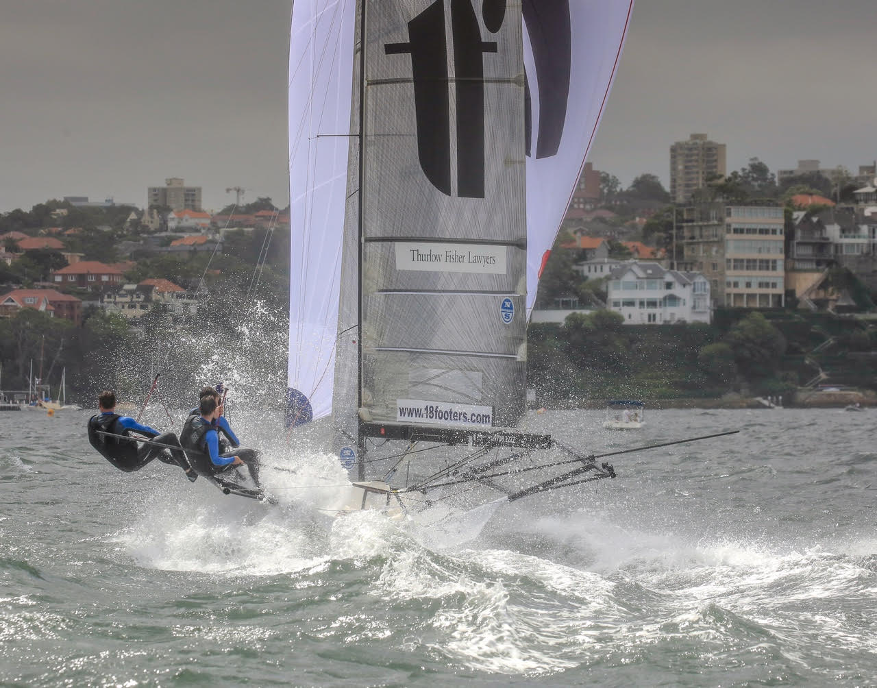 18 footers | Thurlow Fisher Lawyers in ominous form