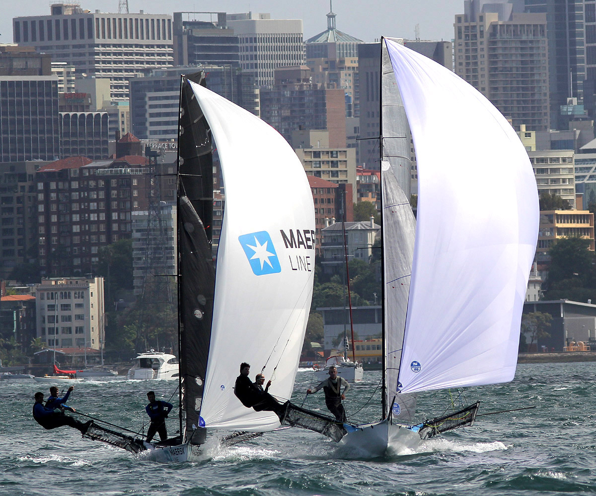 Two international teams Harken (USA) leads Maersk Line (NZ)