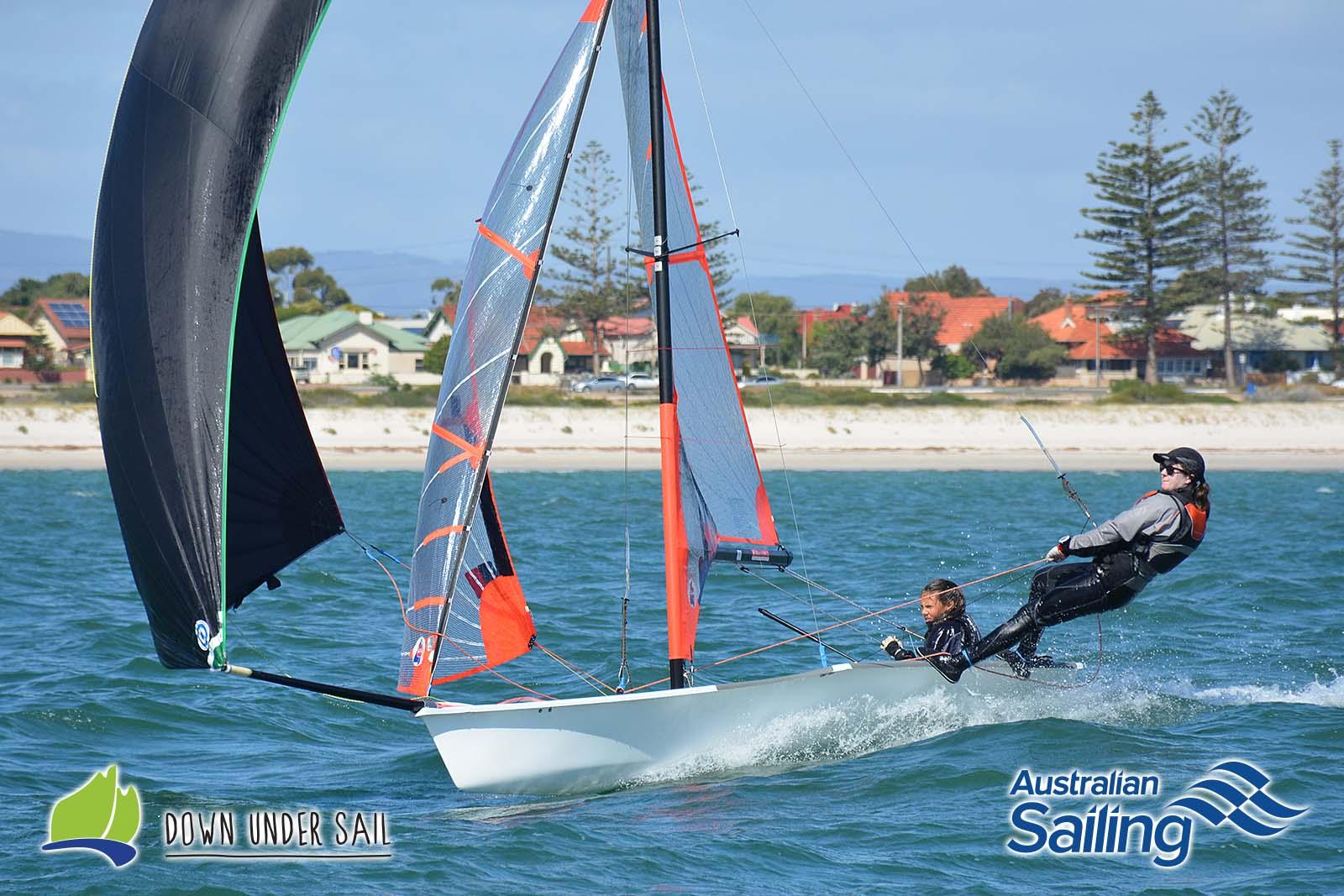 Ella Konings and Sarah Short racing in last year's SA Youth States.