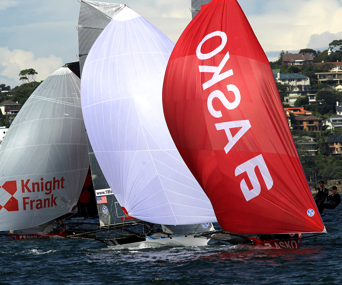 Asko Harken and Knight Frank on the first lap