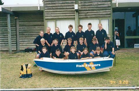 Juniors from Adelaide Sailing Club competing at the country-metropolitan championships in Kangaroo Island during the 2002/03 season.