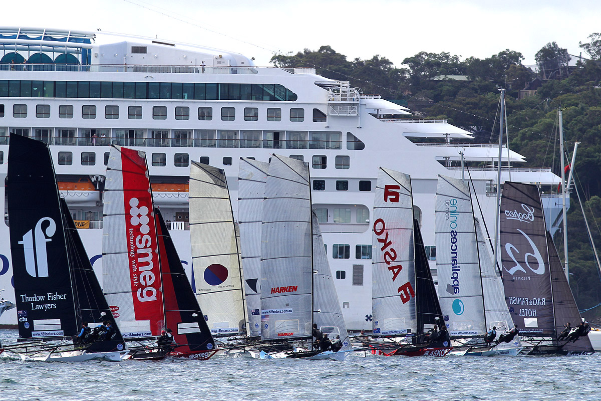 Race start with a spectacular backdrop