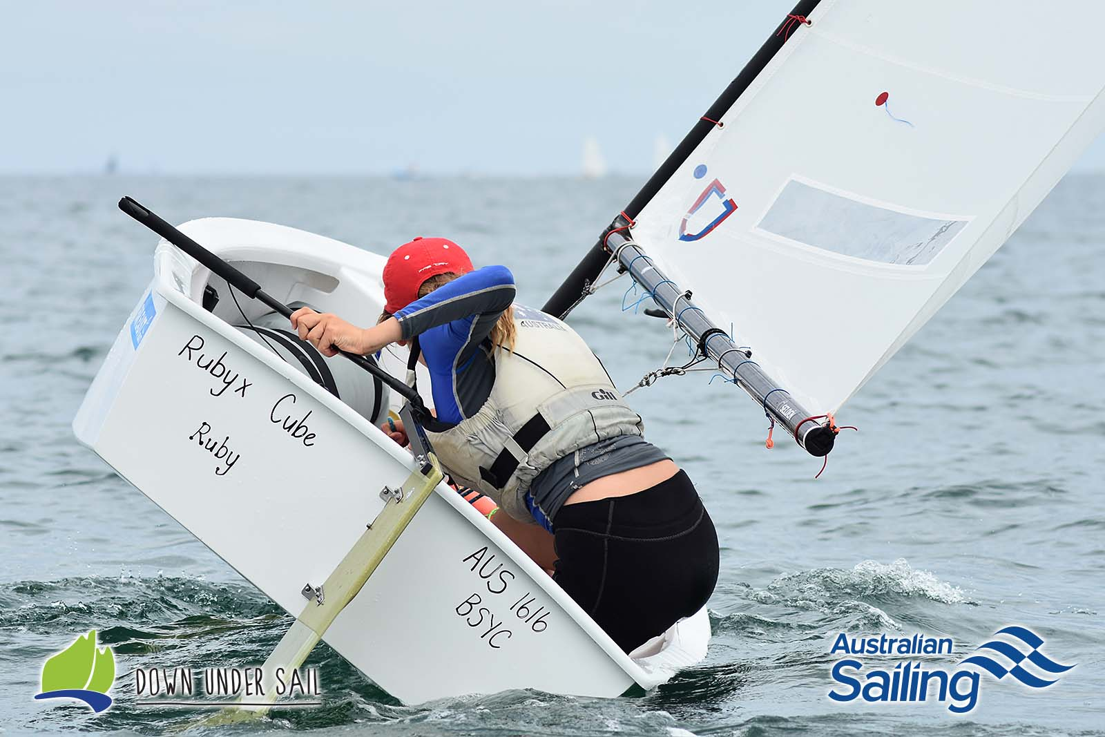 Racing in the Optimist Open fleet was close and competitive all weekend.