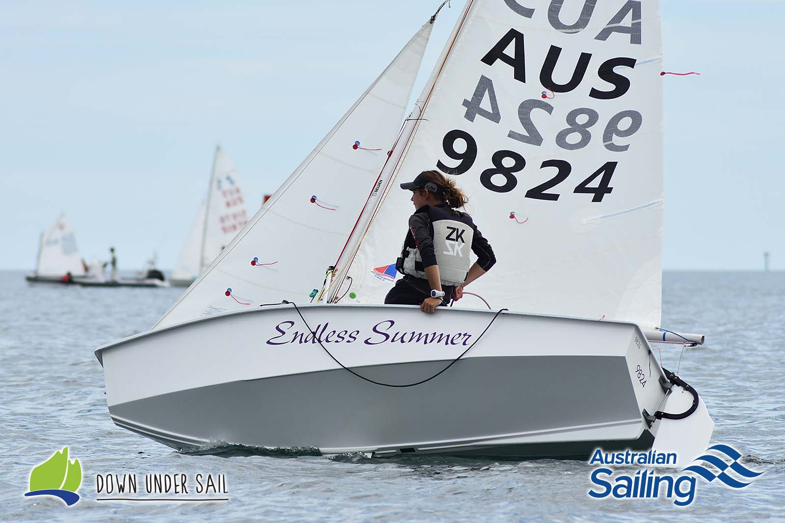 Brooke Gaffney and Darcy Conry in Endless Summer won the International Cadet fleet.