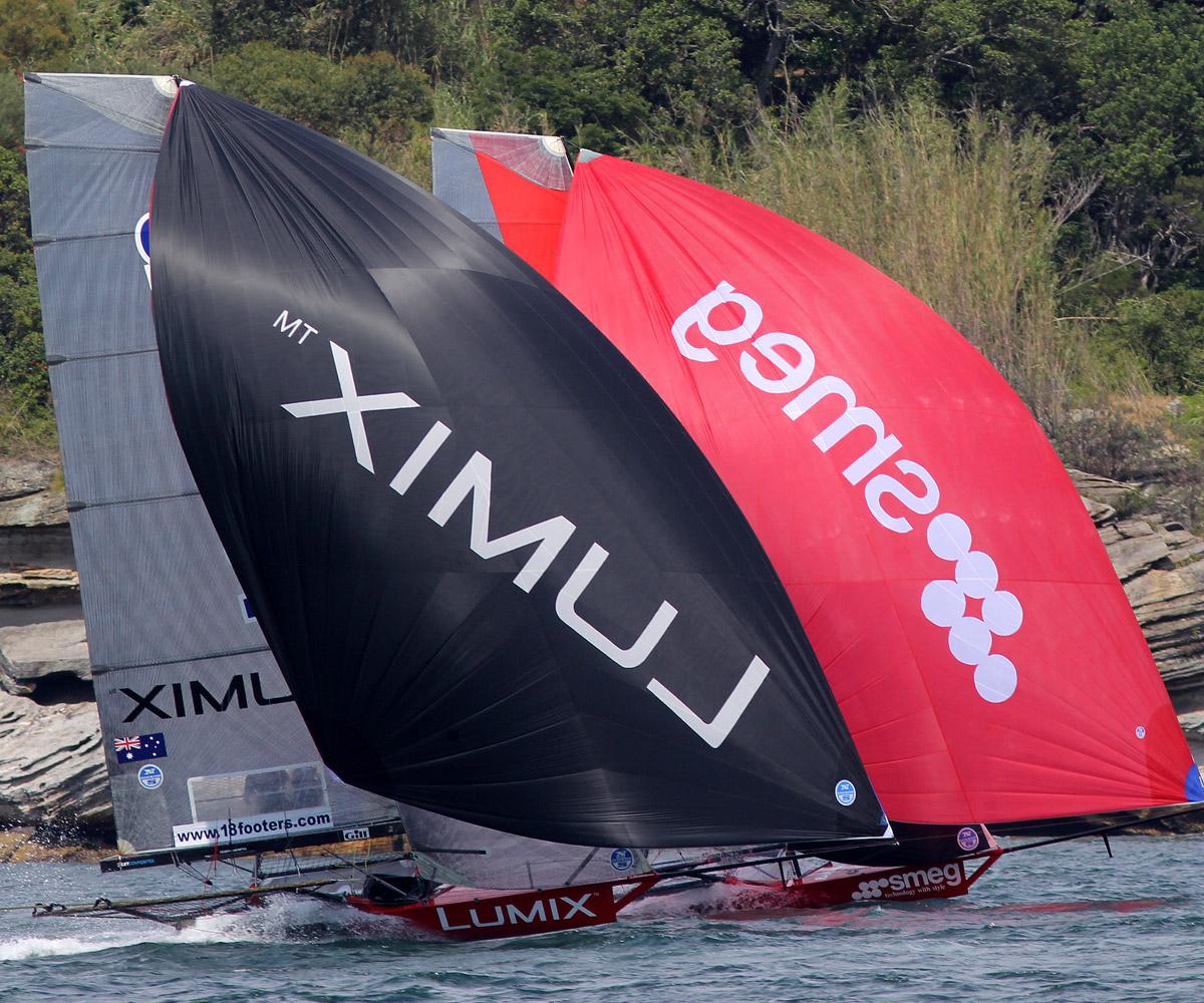 The young Lumix team battle with the 2016 JJ Giltinan champion Smeg