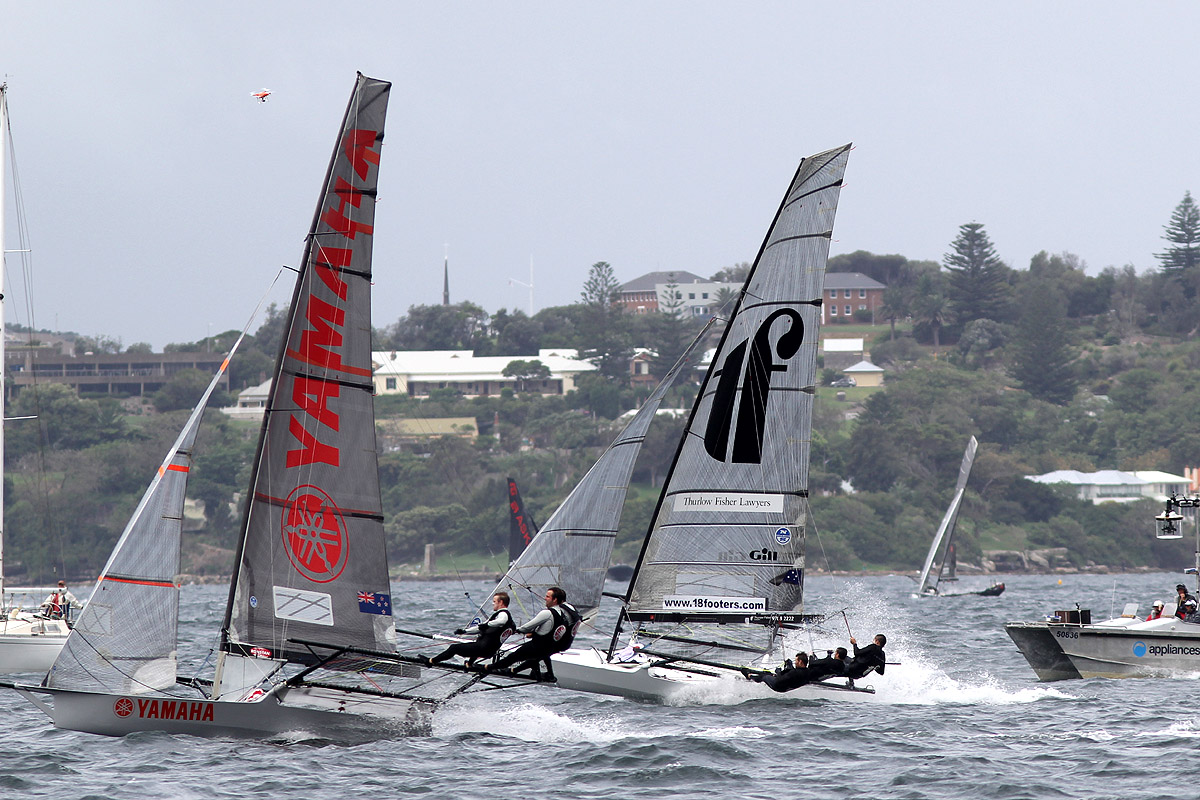 Yamaha and Thurlow Fisher Lawyers reaching on the run to the bottom mark