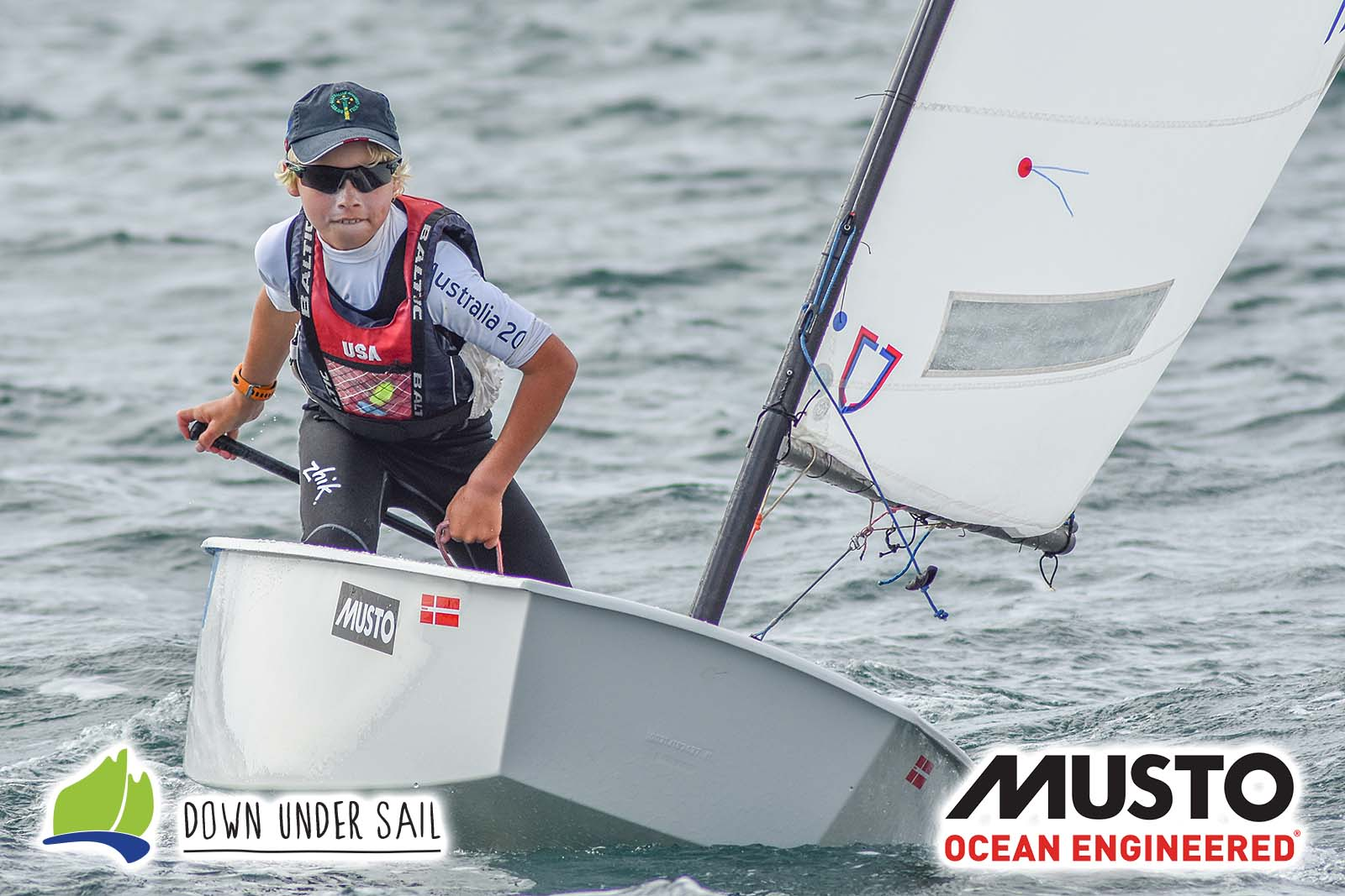 Quinn Auricht is leading overall in the Open fleet.