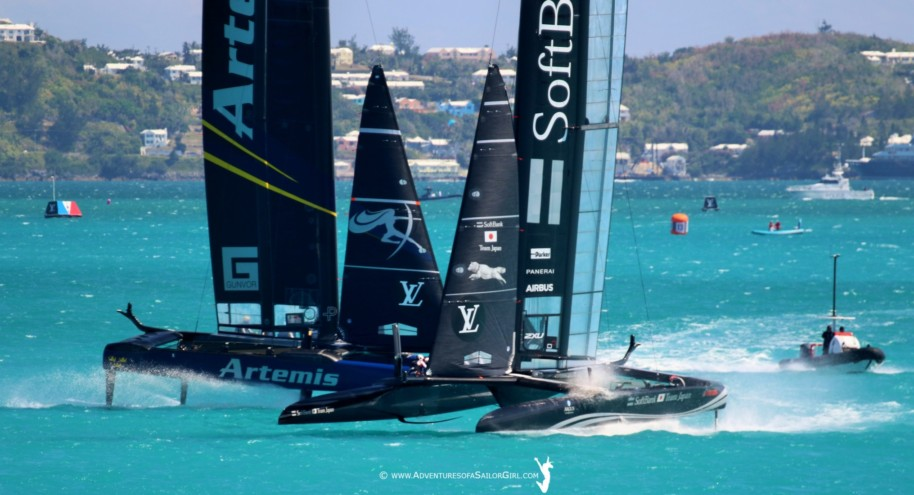 America's Cup | Breakages and close racing on first day of playoffs | VIDEOS