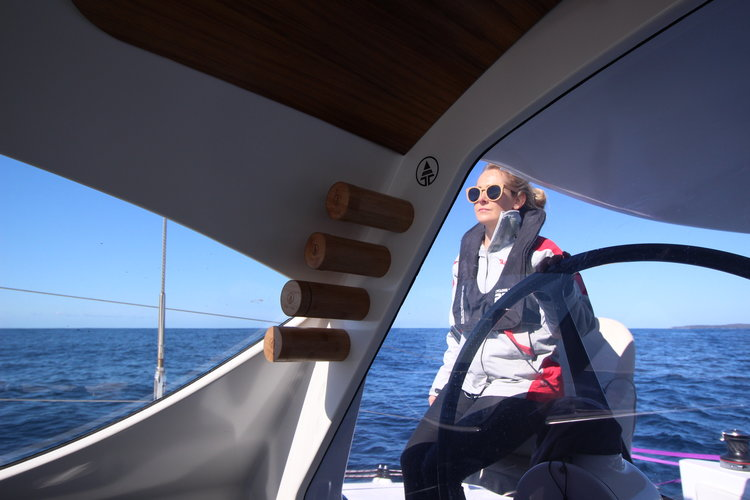 Liss at the helm.