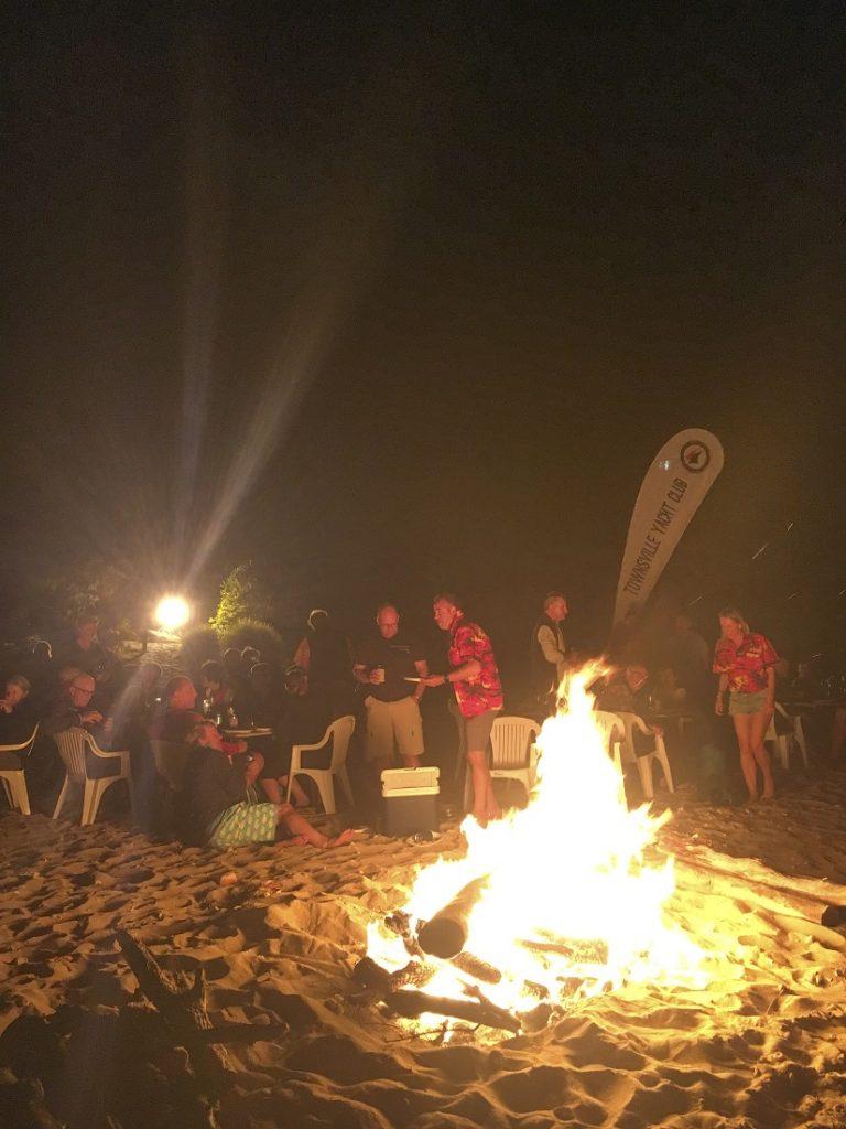 Beach bonfire at Cape Upstart - Mark Chew pic - low res