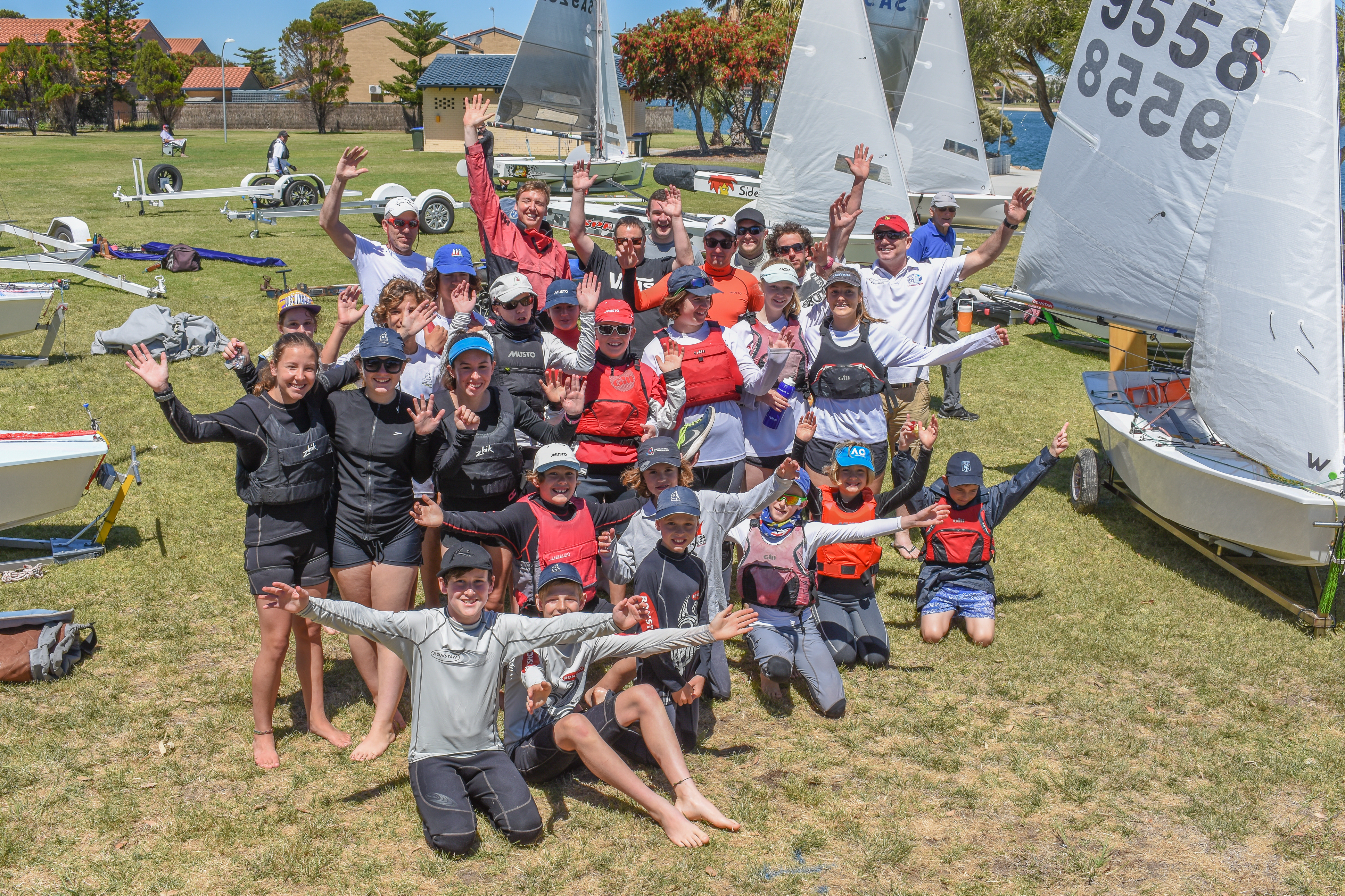 Sharpies join forces with Cadets for 2017 West Lakes Regatta