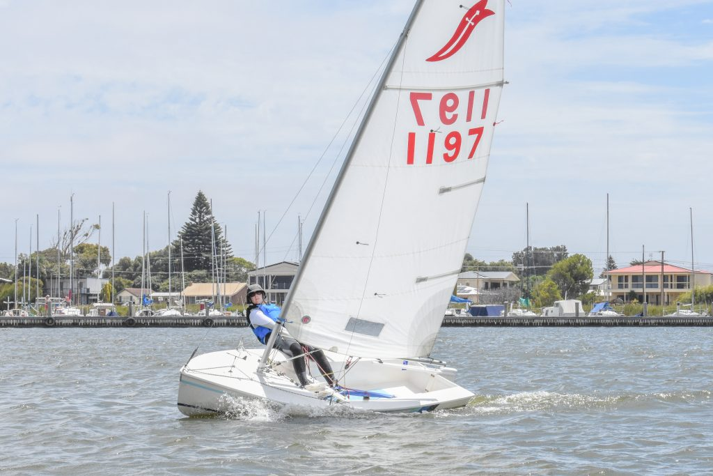 There were a great number of dinghies out sailing. Photo: Cass Schlimbach