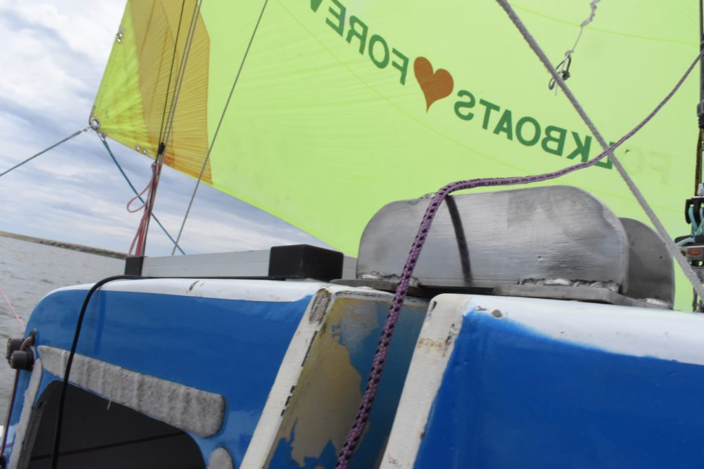 Down Under Sail enjoyed sailing with the Sea Bomb team on its way to Milang.