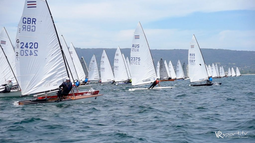 Start of race one at the Contender Worlds.