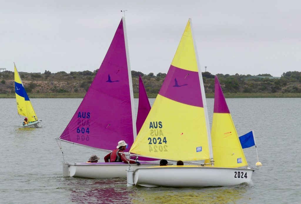 Racing included four short races for Sailability. Photo: Chris Caffin