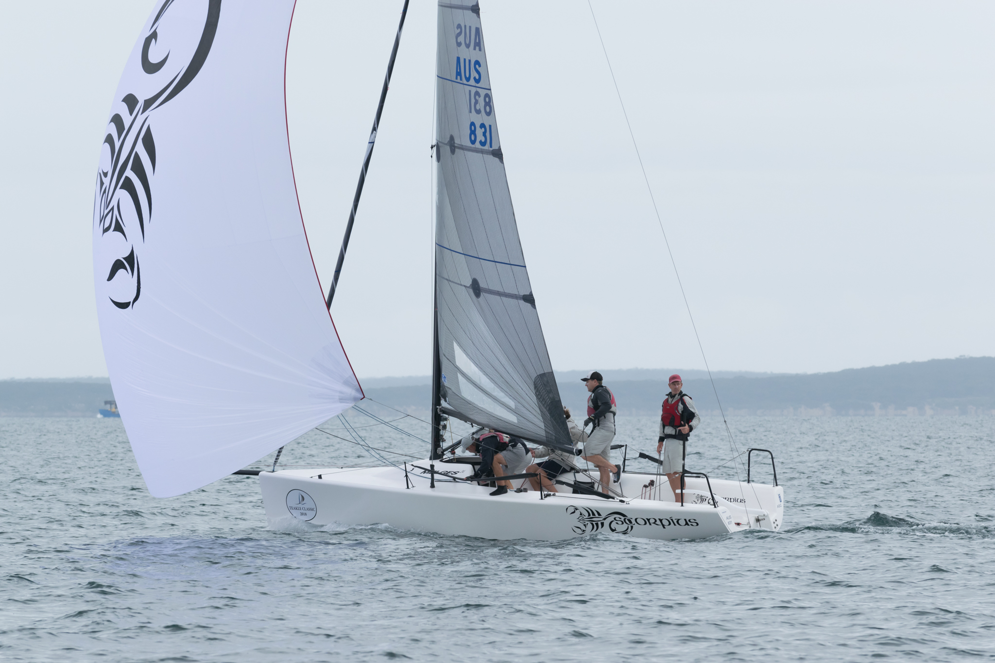Higgins and crew on top at the halfway mark | Melges 24 Nationals