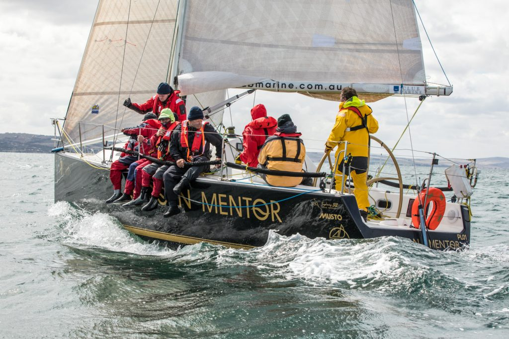 Matt Stephens and his crew on Lincoln Mentor nearing the finish of last year's race. Photo: Take 2 Photography.