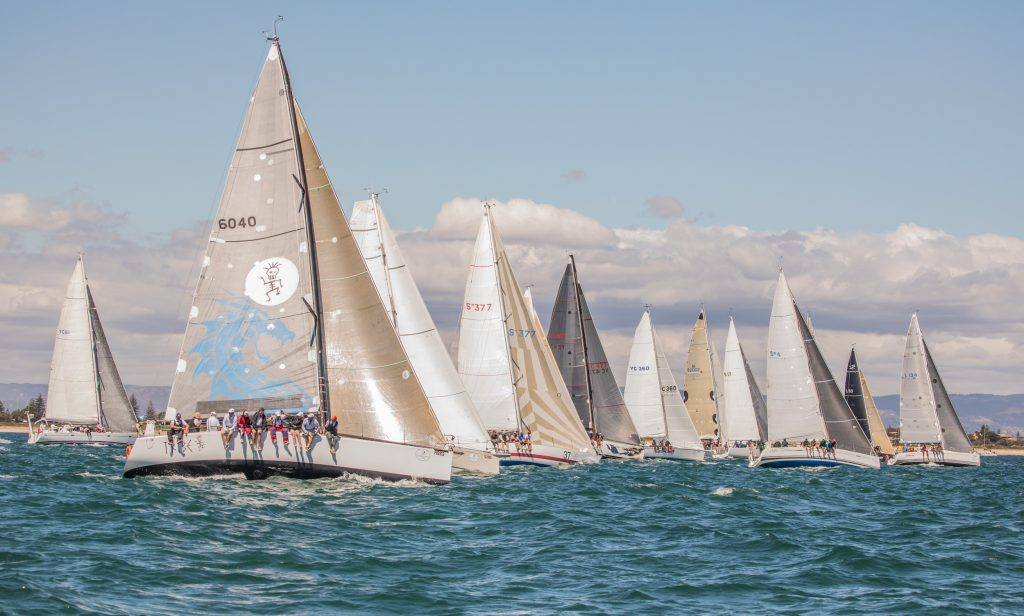 Some of the 38-boat fleet off the start line. Photos: Take 2 Photography