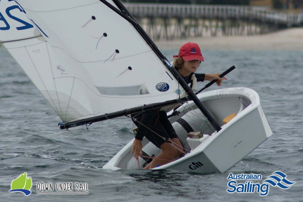 Taran Sanderson was a strong performer in the Optimist Open Fleet last year.