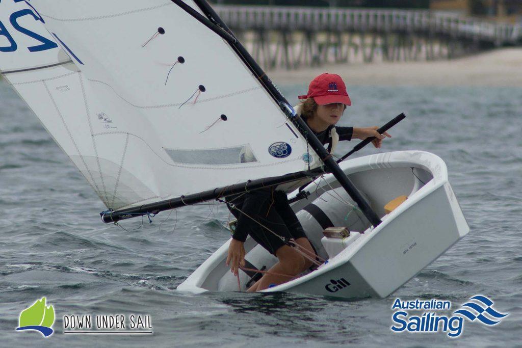 Taran Sanderson was a strong performer in the Optimist Open Fleet last year.